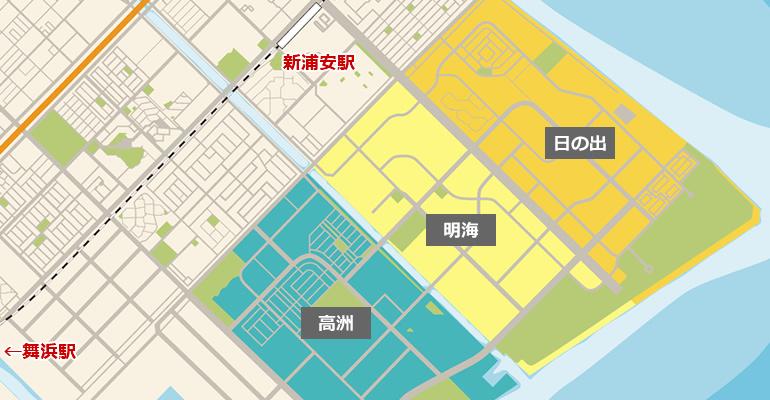 新浦安のマップ