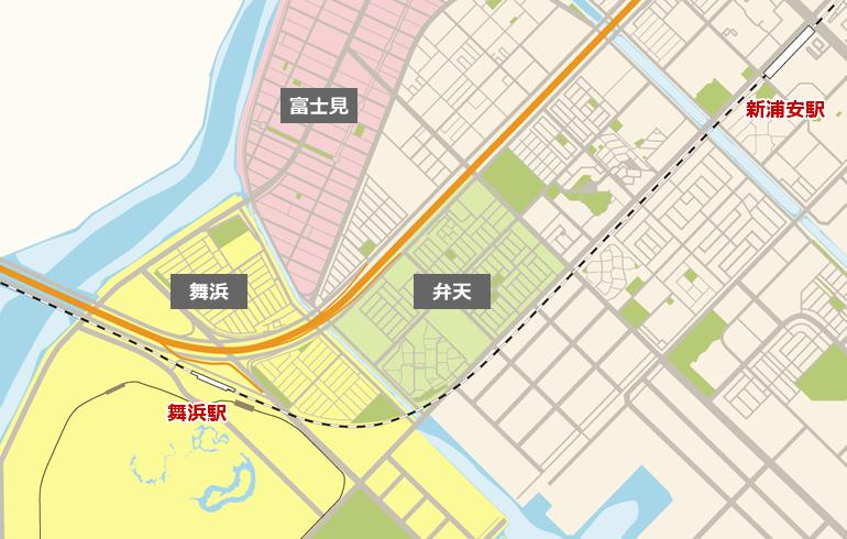 舞浜のマップ