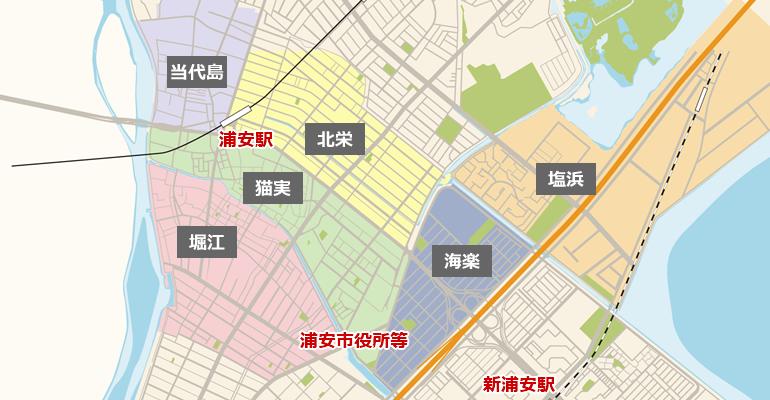 浦安のマップ